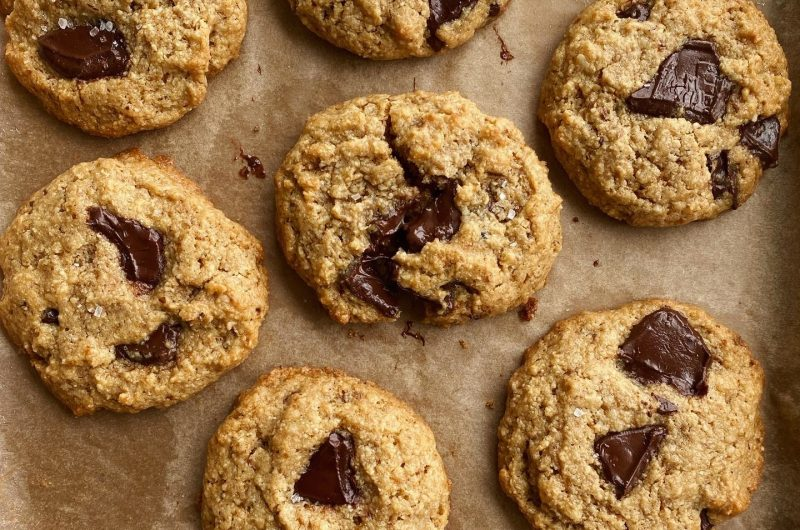 Gluten-Free Walnut Chocolate Chunk Cookies