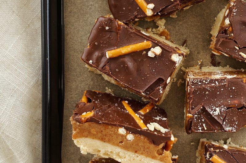 Salted Peanut Butter Pretzel Chocolate Bars