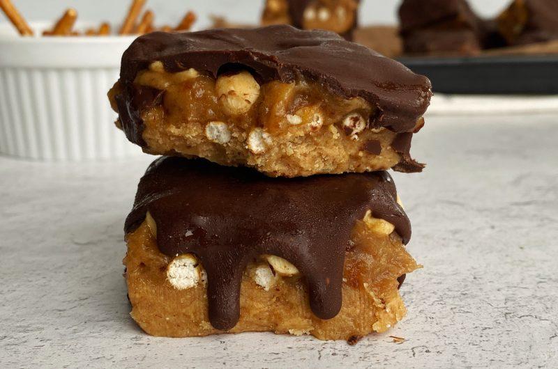 Homemade Peanut Butter Take 5 Bars