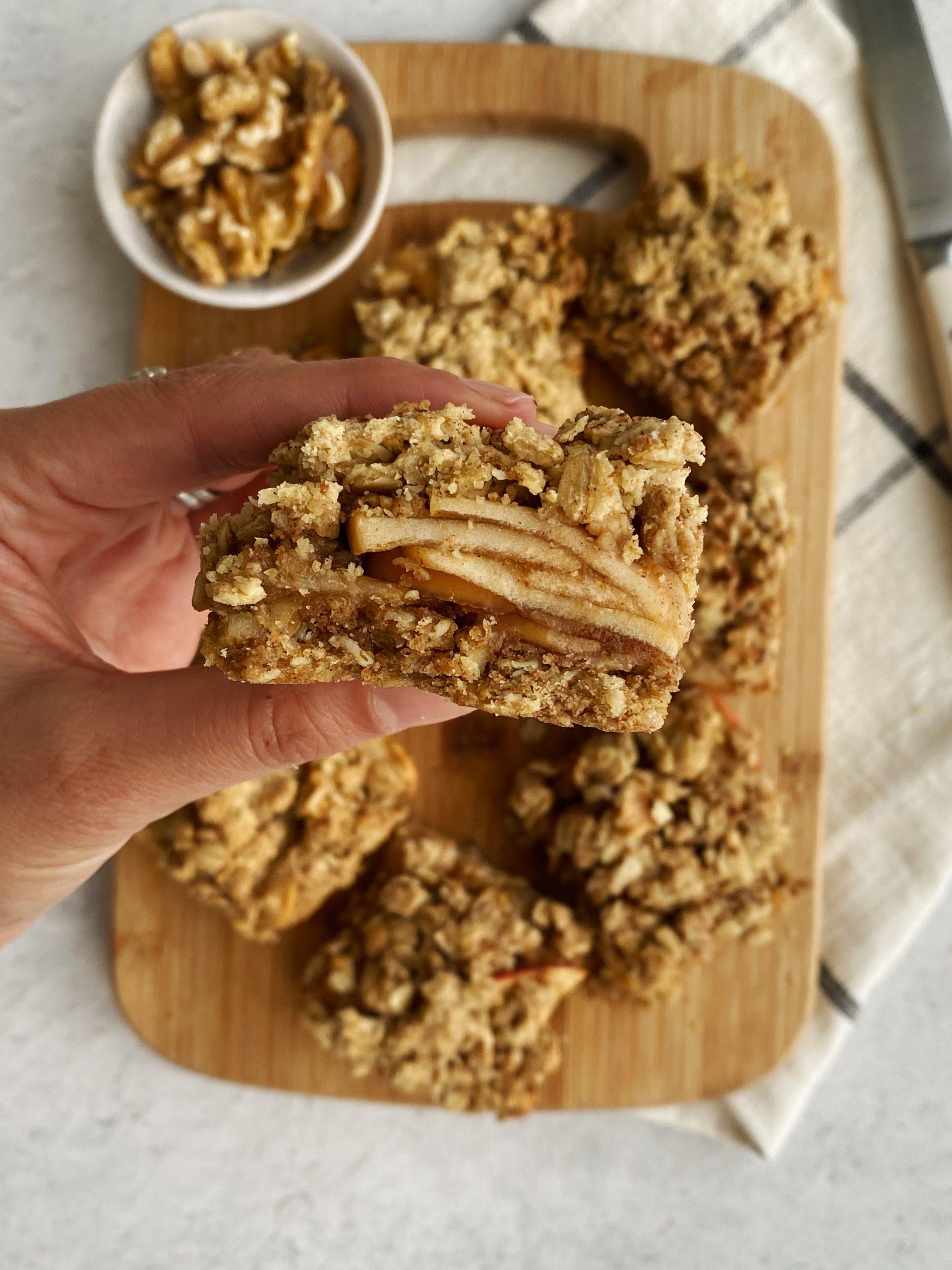 apple walnut oatmeal bars