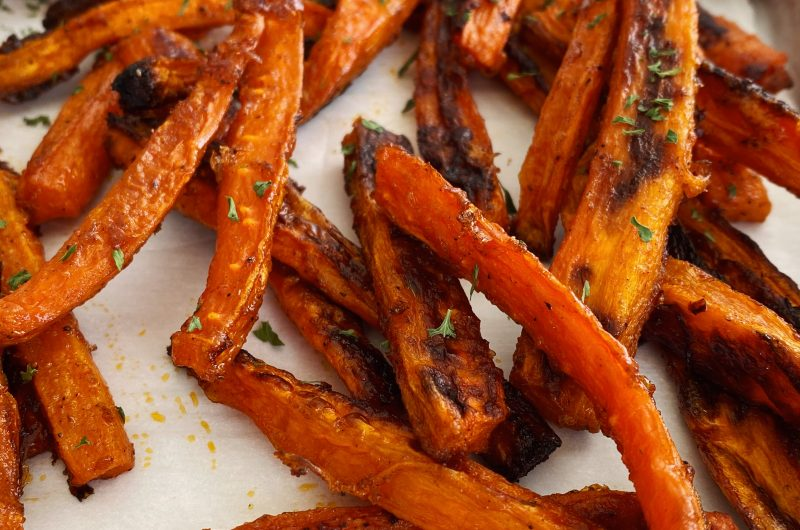 Crispy Baked Carrot Fries