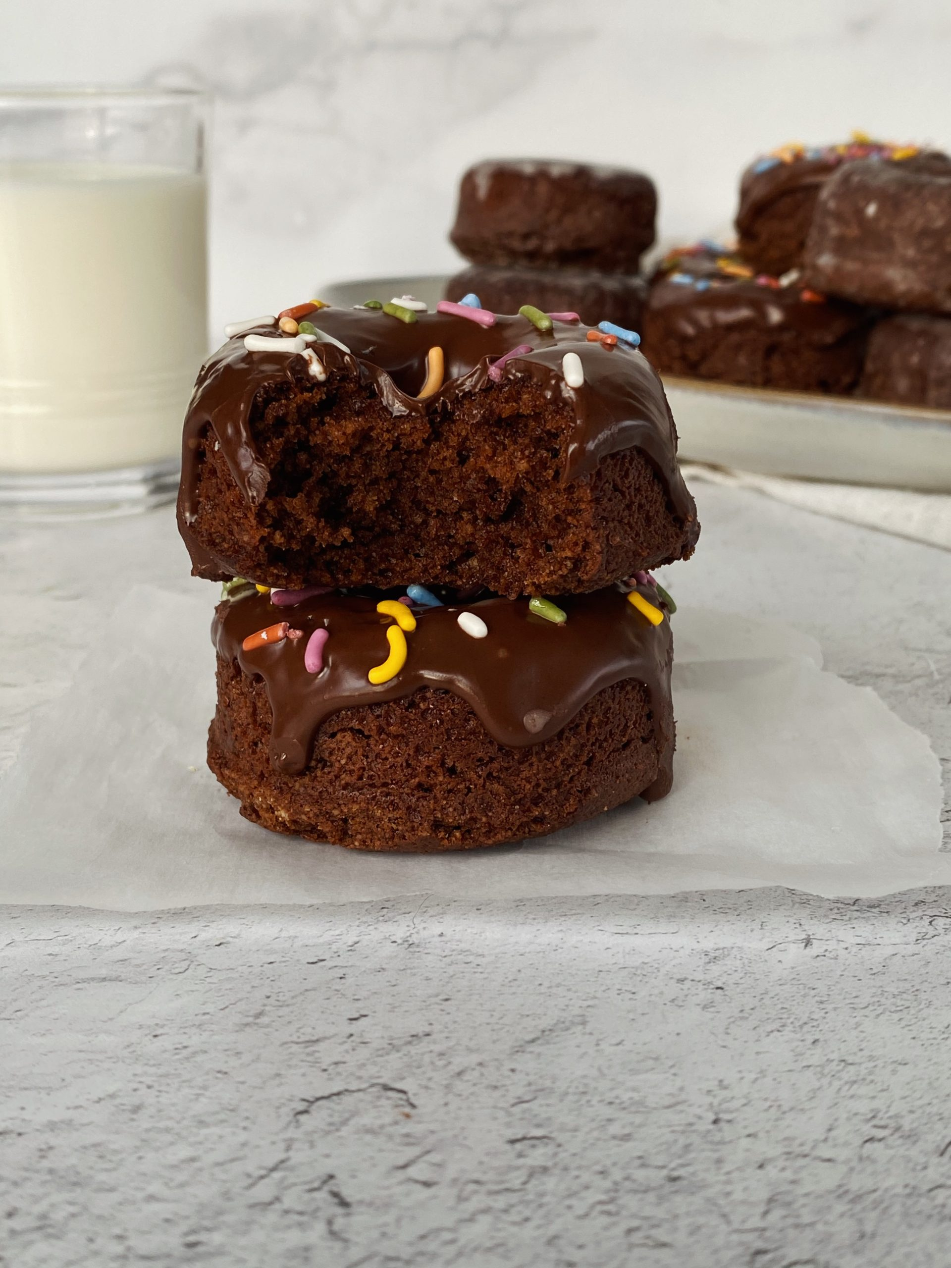 Chocolate Cake Donuts