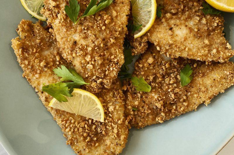 Lemon Parmesan Crusted Fish