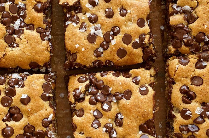 Chocolate Chip Tahini Blondies