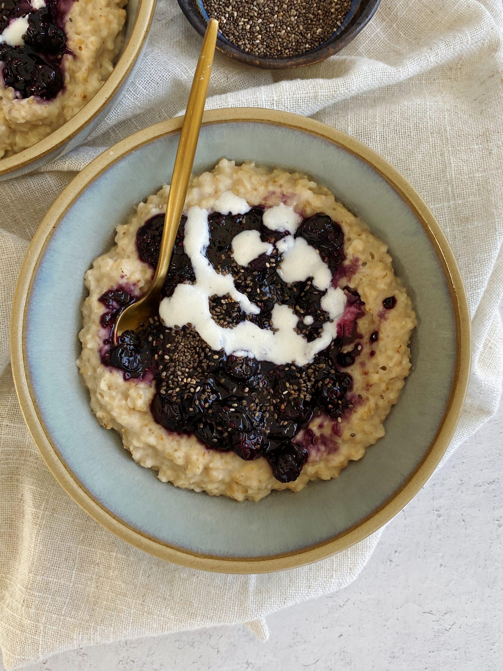 Blueberry Pie Oatmeal