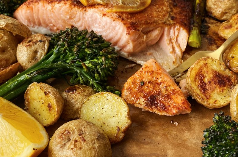 Easy Sheet Pan Salmon for Two
