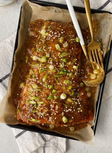 apricot glazed salmon