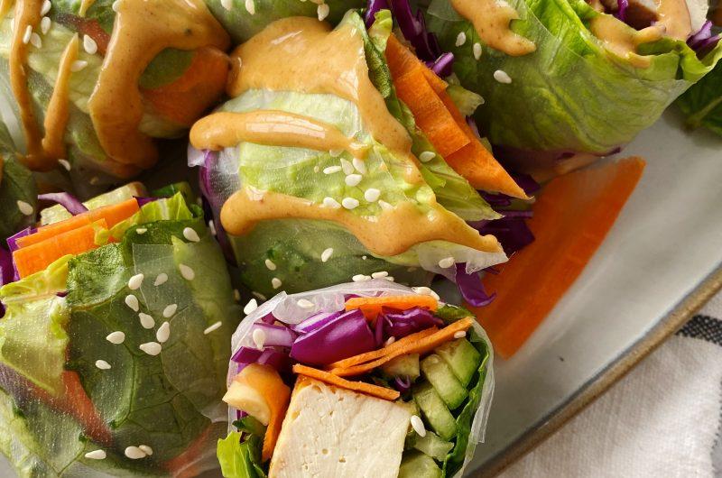 Tofu and Veggie Summer Rolls