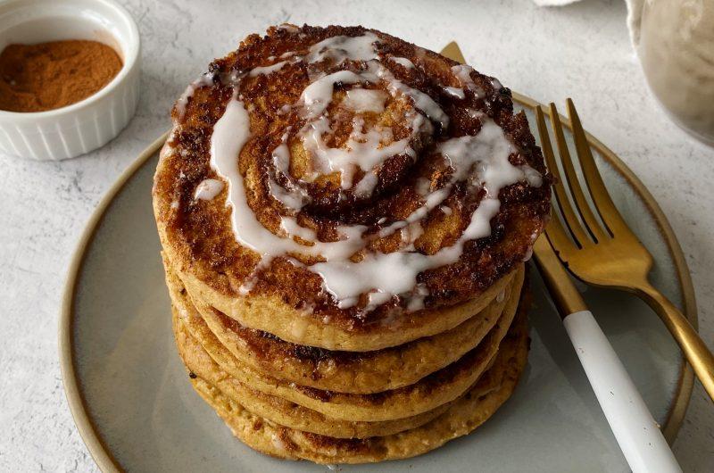 Cinnamon Roll Pancakes (Gluten-free)