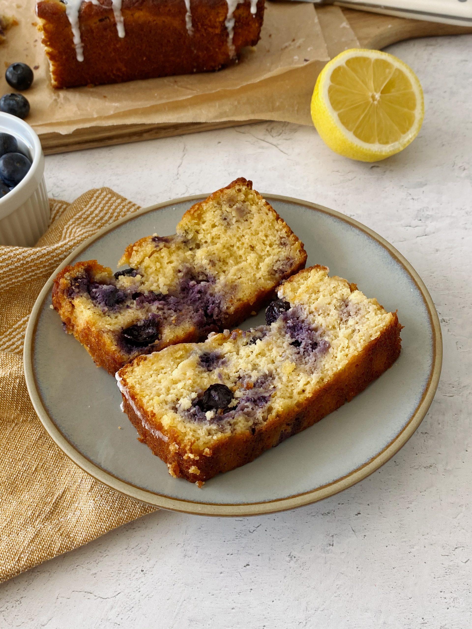 gluten-free lemon blueberry loaf