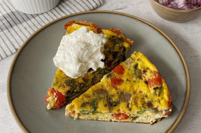 Vegetable Feta Frittata