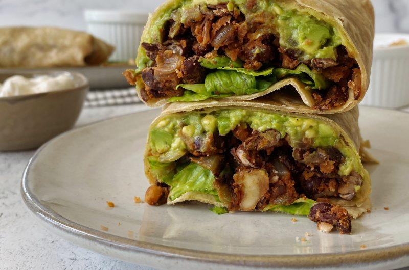 Plant-forward Walnut & Black Bean Burritos