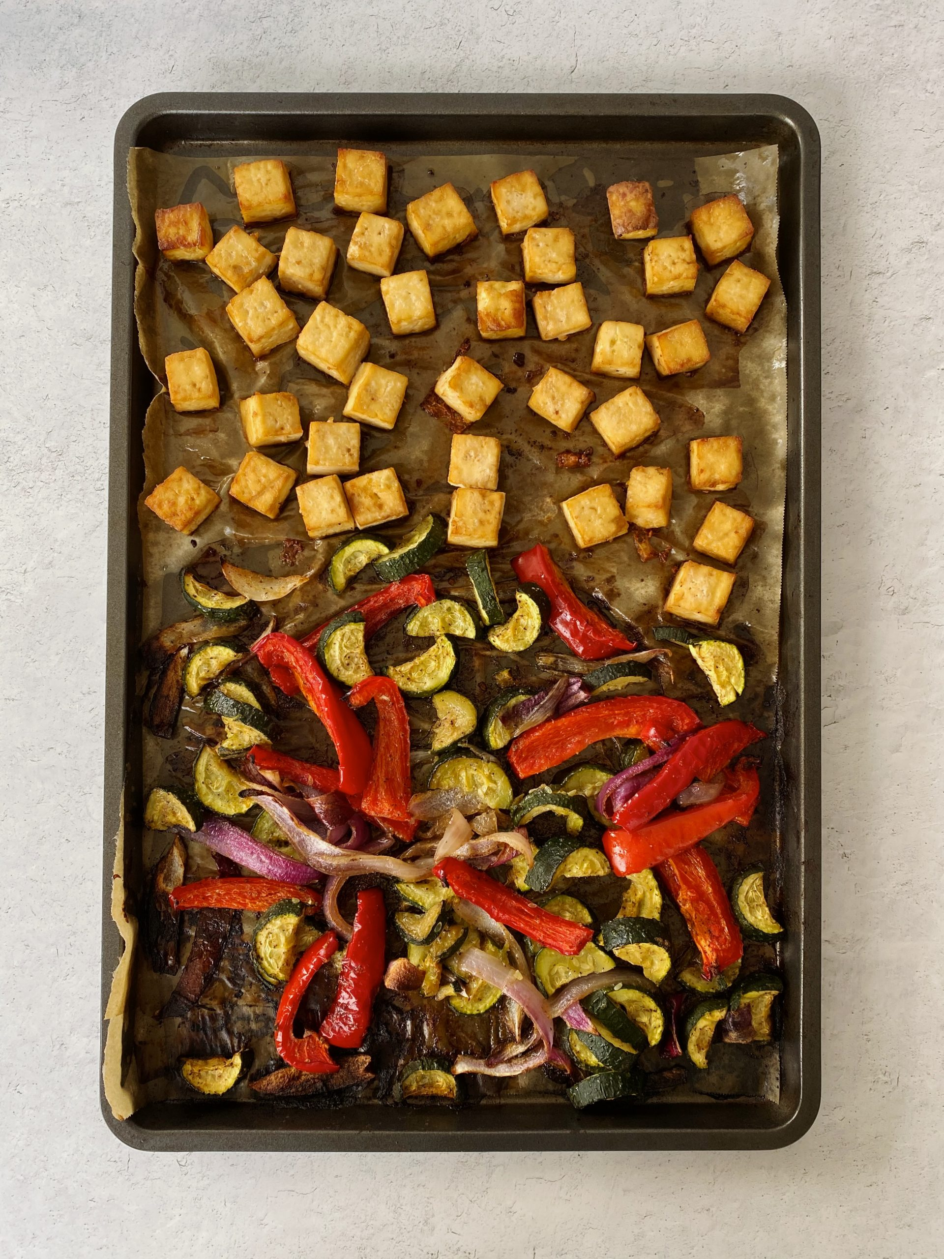 sheet-pan tofu