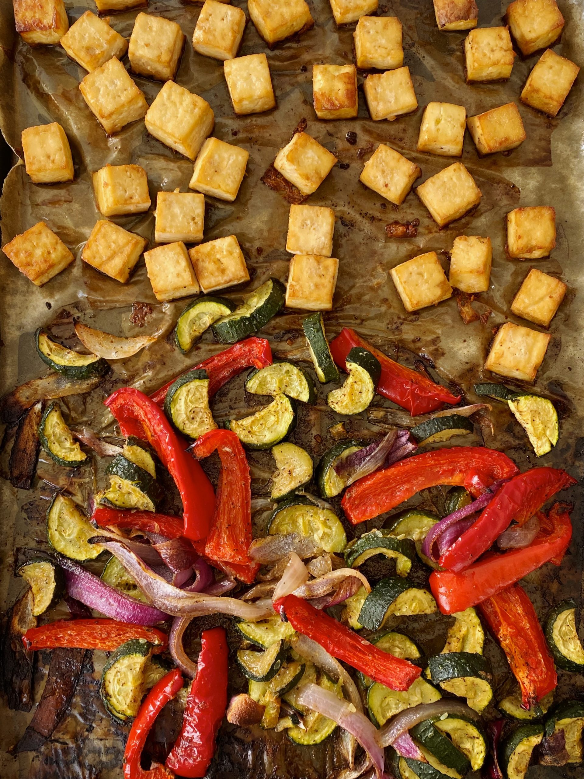sheet pan tofu
