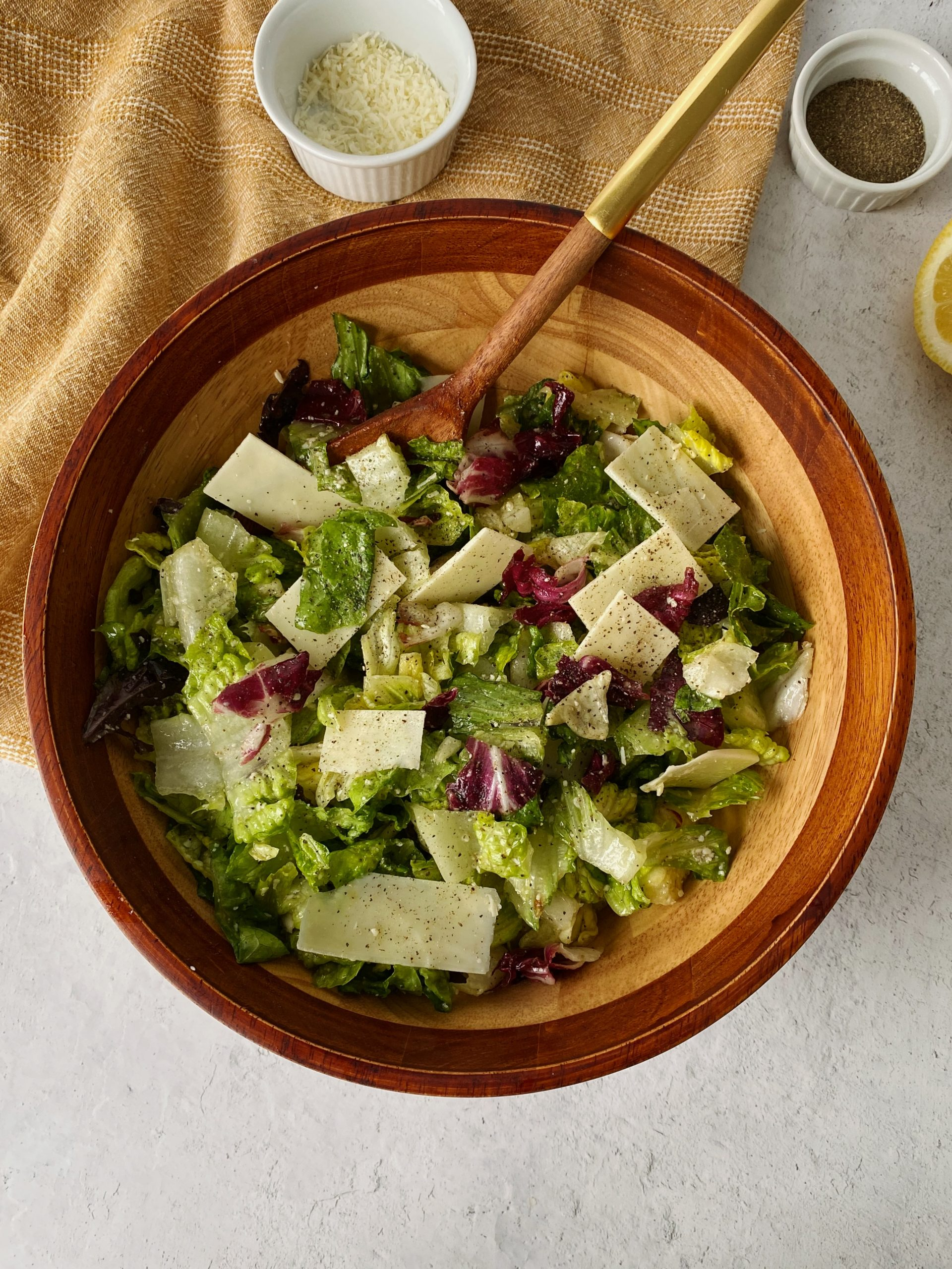 lemon parmesan salad