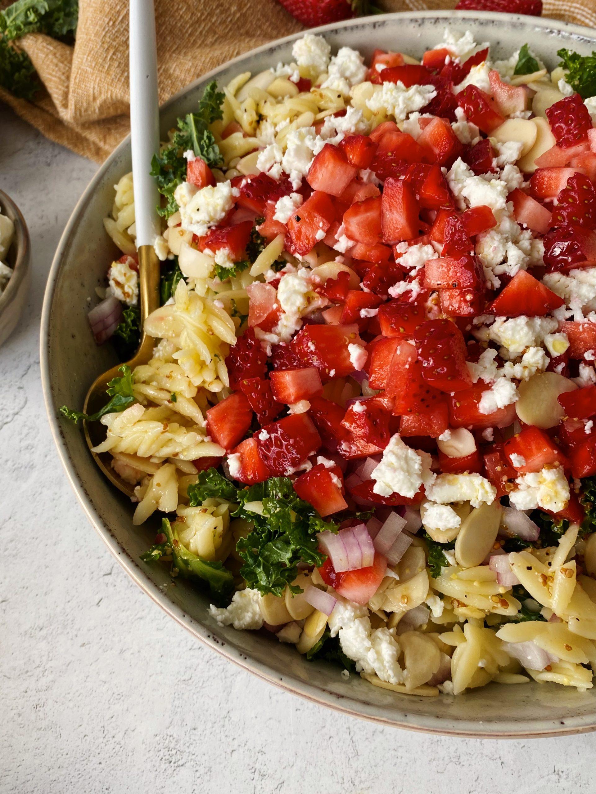strawberry orzo salad