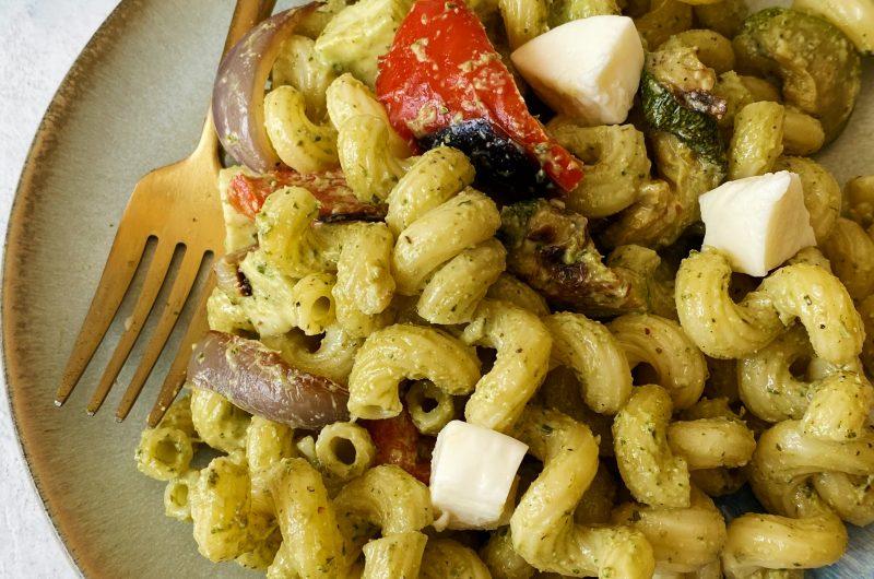Pesto Pasta Salad with Roasted Veggies