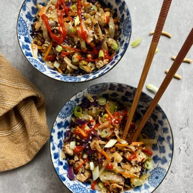Tofu Egg Roll in a Bowl