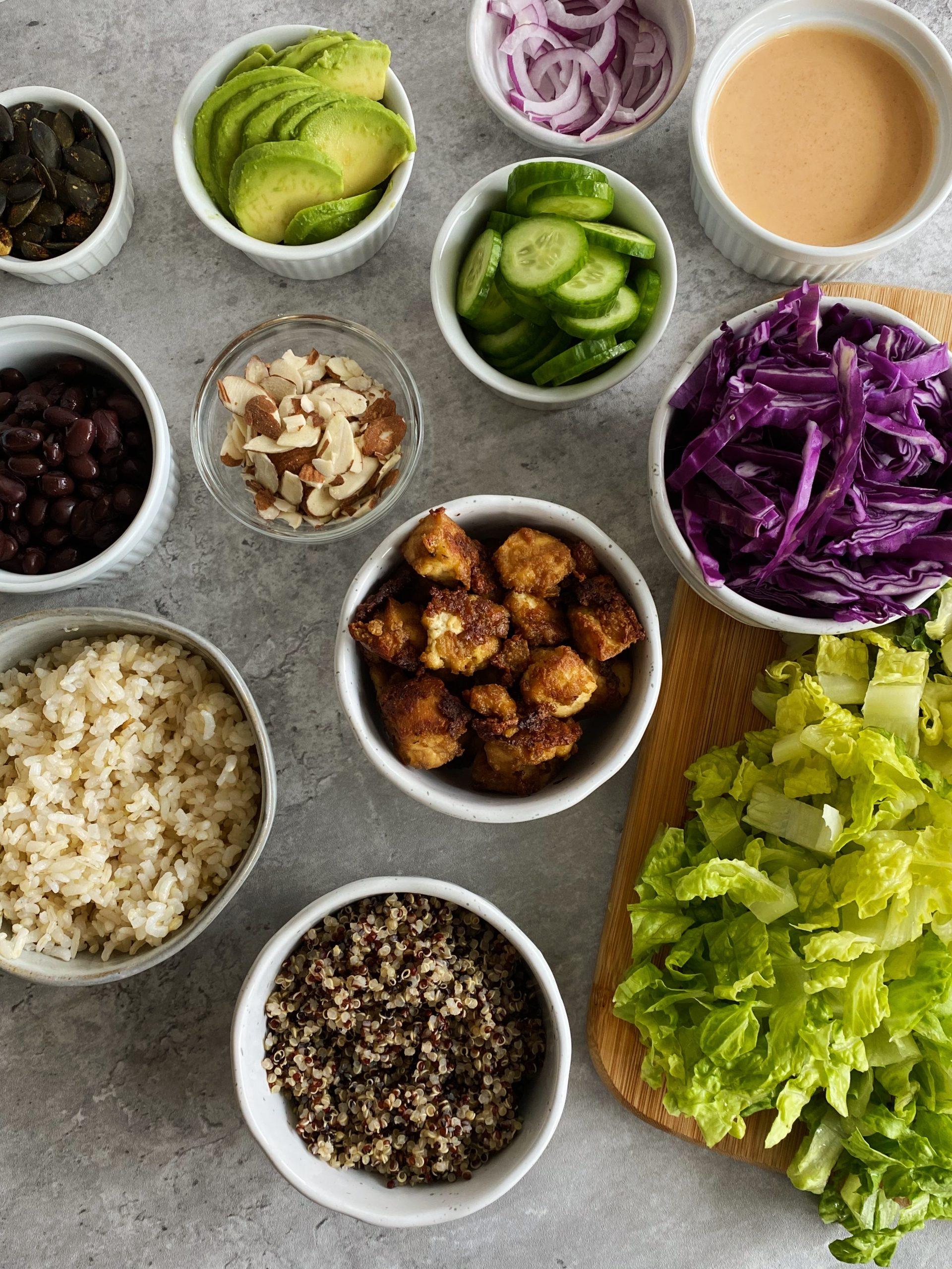 vegan grain bowls