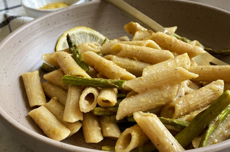 Lemon Pasta with Roasted Asparagus