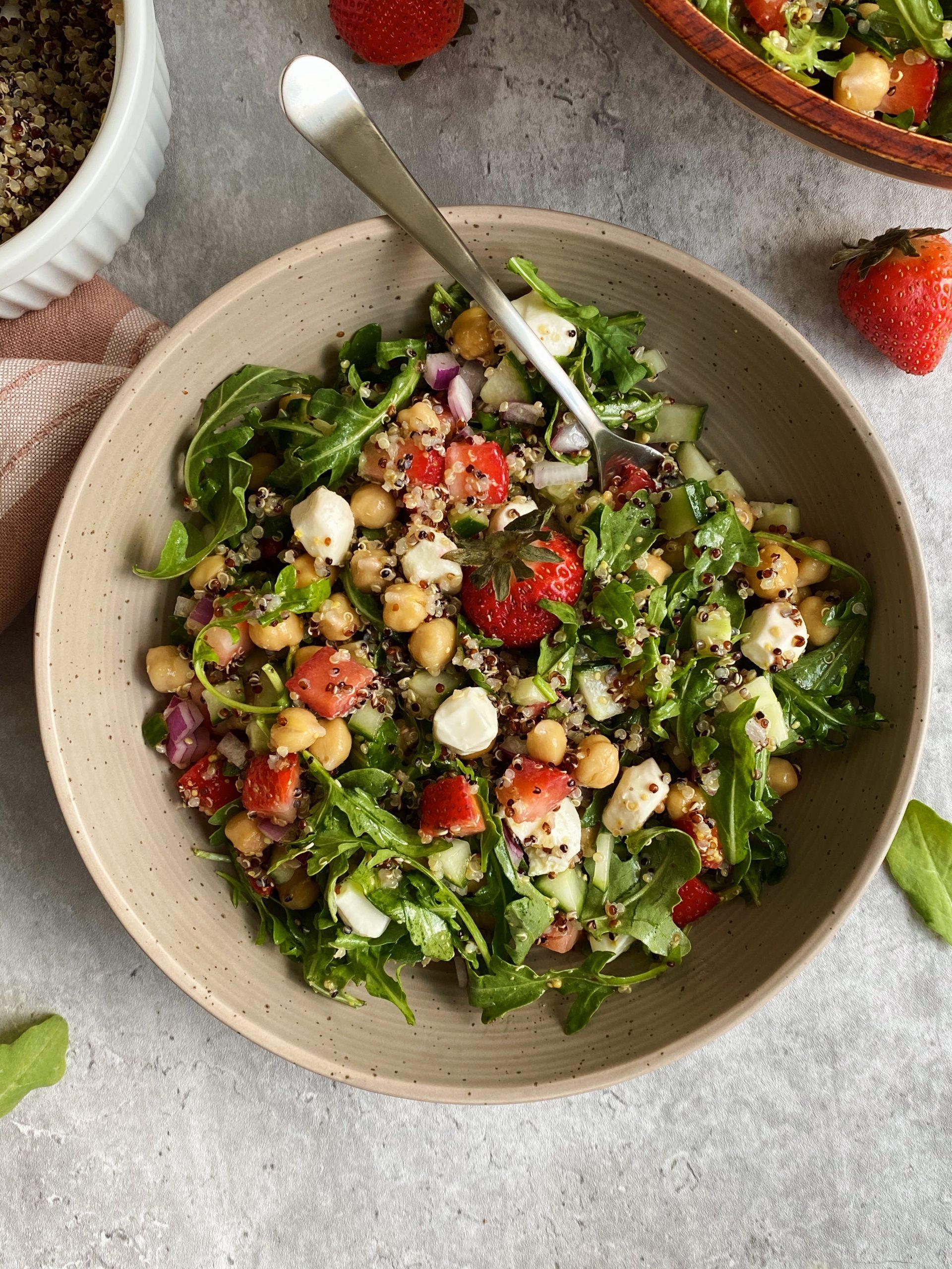 strawberry chickpea salad