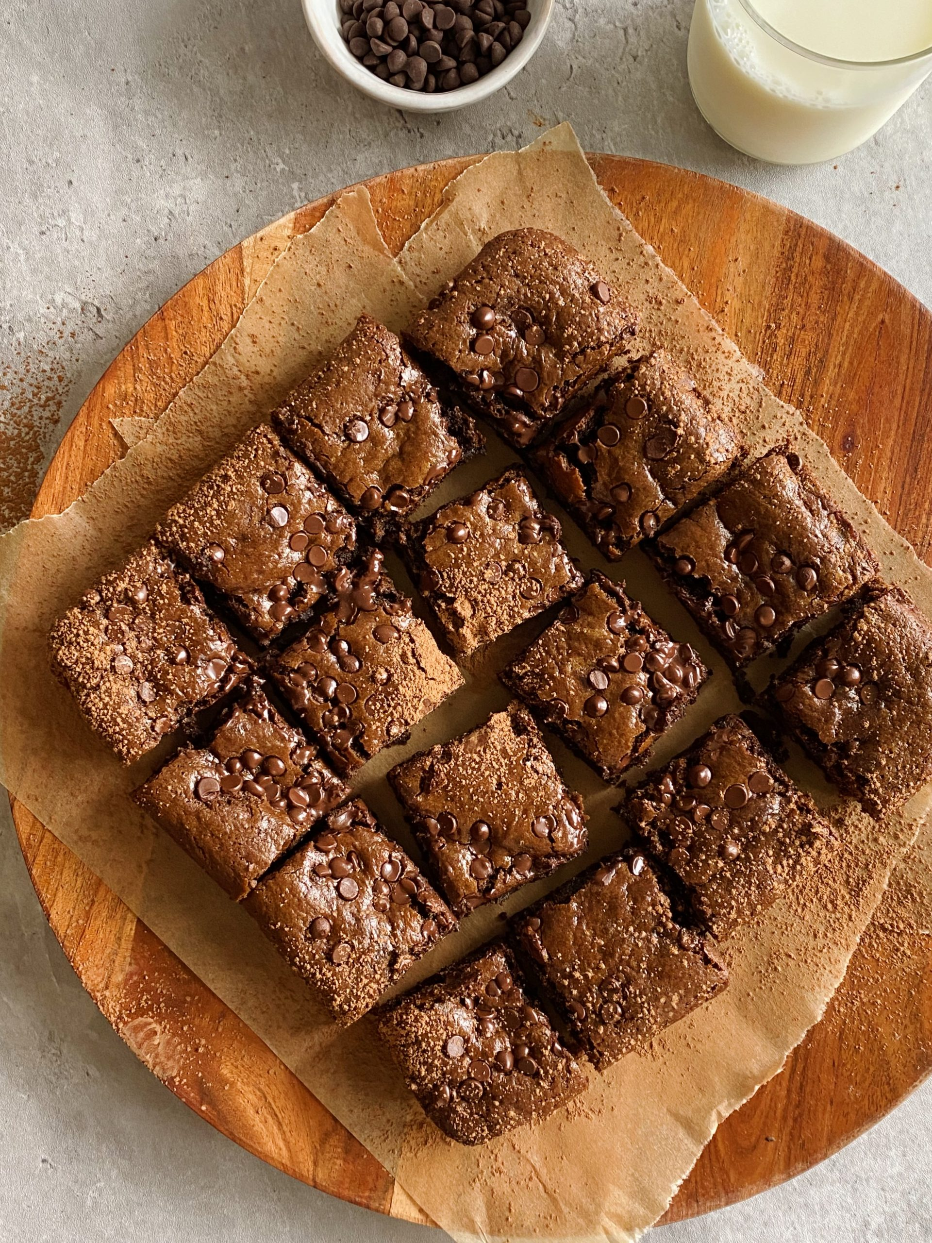 gluten-free tahini brownies