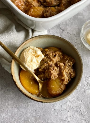 Gluten-free Peach Crumble
